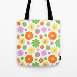 Vintage Daisy Crazy Floral Tote Bag