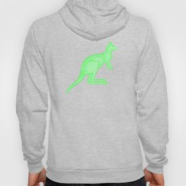 Bright Green Kangaroo Hoody