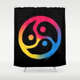 BDSM Triskelion Pansexual Pride Shower Curtain