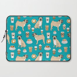 Pug coffee pupuccino dog breed cute pugs pure breed lovers gifts Laptop Sleeve