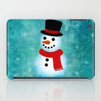 snowman iPad Cases featuring snowman by vitamin