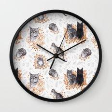 Le Chat Toile de Jouy Wall Clock