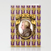 mozart Stationery Cards featuring Mozart Wallpaper by Glenn Designs