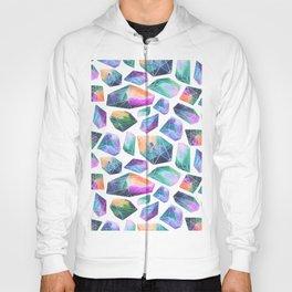Geometric Crystals Amethyst Geode Pattern 1 Hoody