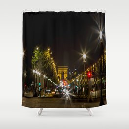 Arc de Triomphe and Champs Elysees Shower Curtain