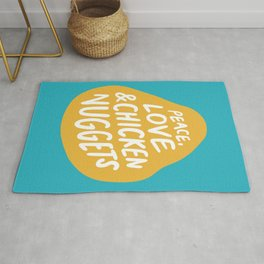 Peace, Love & Chicken Nuggets Rug