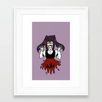 backpack Framed Art Prints featuring Red Backpack by Desert Skulls