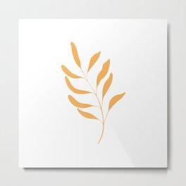 Leafy Orange #2 Metal Print