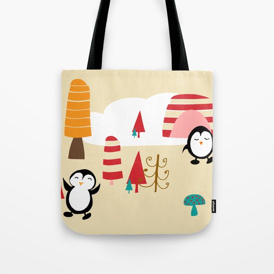 Oriana Penguin Tote Bag