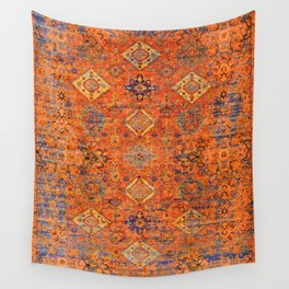 Oriental Vitange Moroccan Rug Design Wall Tapestry