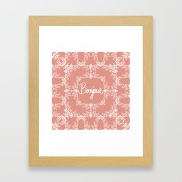 Bonjour - Autumn Peach Framed Art Print