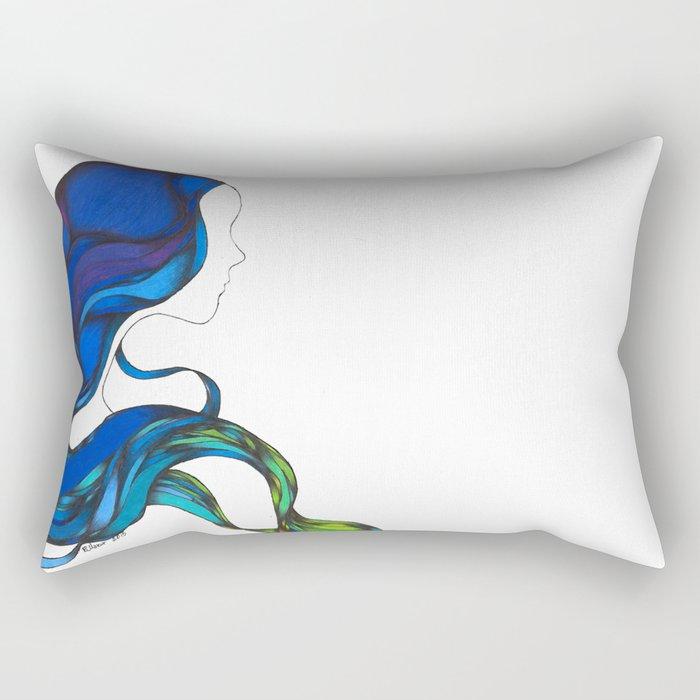 Hair Like the Sea Rectangular Pillow