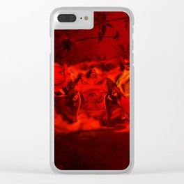 hermit frog Clear iPhone Case