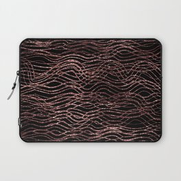 sparkling rose waves Laptop Sleeve