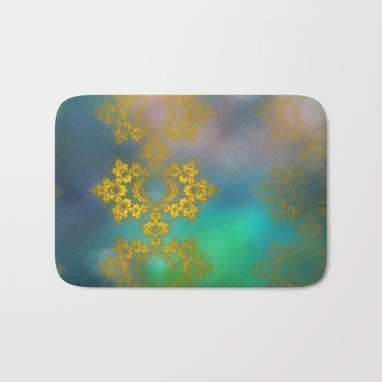 Gold lace decoration Bath Mat