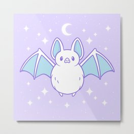 Cute Pastel Bat Metal Print