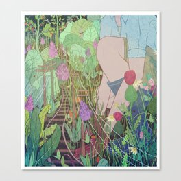 Commuter Garden Canvas Print