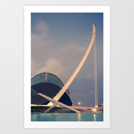 Calatrava Bridge Art Print