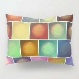 Multicolored suns Pillow Sham