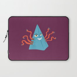 Weird Blue Pyramid Character With Tentacles Laptop Sleeve