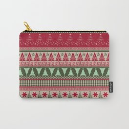 Pine Tree Ugly Sweater Carry-All Pouch