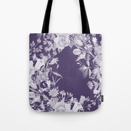 Stardust Violet Indigo Floral Motif Tote Bag