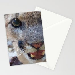 Young Male Mountain Lion Low Poly Geometric Triangles Stationery Cards