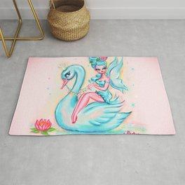 Blue Swan Fairy Rug