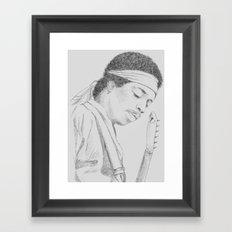 Hendrix print Framed Art Print
