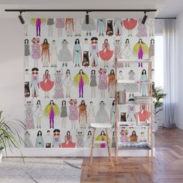 Outfits of Bjork Fashion Wall Mural