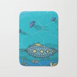 Nautilus under the sea Bath Mat