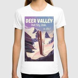 Deer Valley, park city, Utah, ski poster print. T-shirt