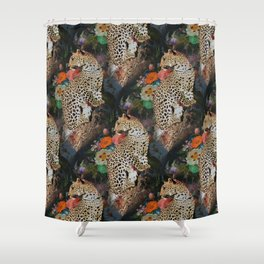 golden age leopard Shower Curtain