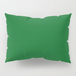 Forest Green Solid Color Block Pillow Sham