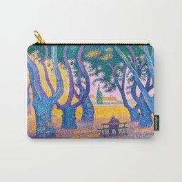 Paul Signac - Place des Lices, St. Tropez - Colorful Vintage Fine Art Carry-All Pouch