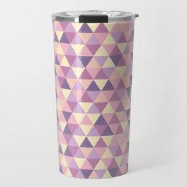 Pastel Pink Geometric Art Travel Mug