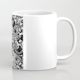 Snaky Fleur, Black 'n White Coffee Mug