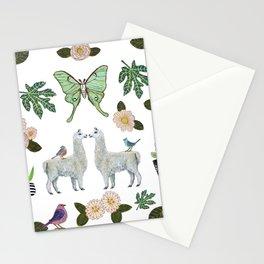 Llama and Luna Moth Stationery Cards