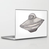 ufo Laptop & iPad Skins featuring UFO by nach-o-kid