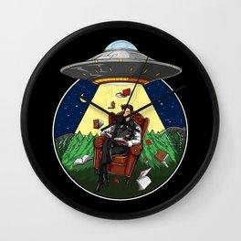 Book Reading Alien Abduction UFO Wall Clock