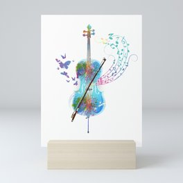 Butterfly Cello Instrument Mini Art Print