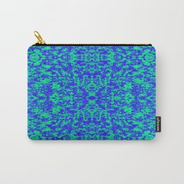 Abstract Fractal In Blue And Green Carry-All Pouch