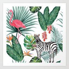 Nature Zebre pattern Art Print