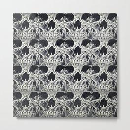 Skull Squares Metal Print
