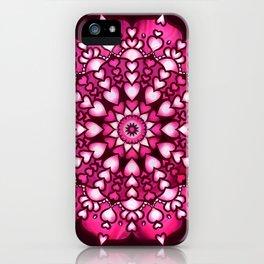 Heart Mandala iPhone Case