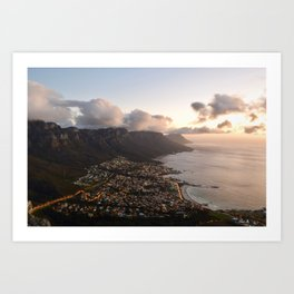 Camps Bay Sunset Art Print