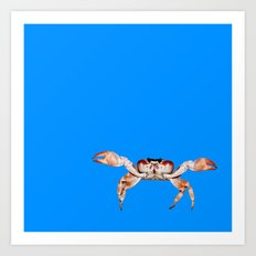 Lonely Crab - Blue Art Print