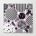 Eclectic Black And White Circles On Pastel Pink by printpix