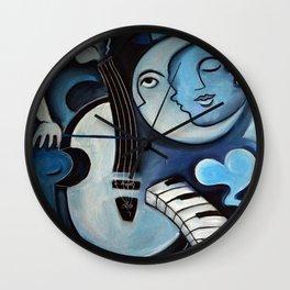 Black & Bleu Wall Clock
