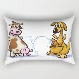 Funny Cow and Kangaroo Rectangular Pillow
